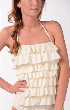 Graceful Waves Tankini- This is like my dream swimsuit for young/teen girls.too bad the bottom that matches is a tad bit skimpy. Darling top though. Modest Swimsuits, Cute Swimsuits, Summer Suits, Summer Wear, Sexy Bikini, Bikini Beach, Modest Fashion, Fashion Outfits, Cute Bathing Suits