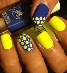 Beautiful nails 2020 Beautiful summer nails Bright summer nails Fashion nails 2020 Manicure by summer dress Manicure by yellow dress Nail polish for blue dress Polka dot nails Dot Nail Art, Polka Dot Nails, Blue Nails, Polka Dots, White Nails, Nail Art Yellow, Yellow Nails Design, Bright Nail Art, Hair And Nails
