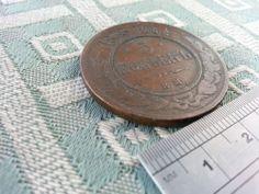 Antique c.1875 coin 5 kopeks kopiika Russia EM Rusland Russie
