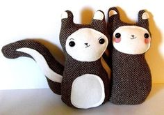 Lovers  Bon Bon and Belchick  tweed woodland by sleepyking on Etsy, $48.00. I will have these for my nursery!!!