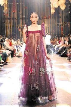 Barong Tagalog For Women, Philippines Outfit, Modern Filipiniana Gown, Filipino Fashion, Skirt Fashion, Fashion Outfits, Tea Length Wedding Dress, Fantasy Dress, Fashion Sewing