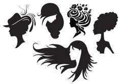 Free Woman Digital Stamps | Freebie: Women Silhouettes Digital Stamps · Stamping | CraftGossip ...