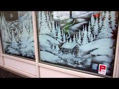 Christmas Window Art - YouTube