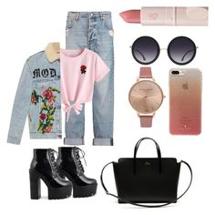 """""""Untitled #192"""" by estersc on Polyvore featuring McQ by Alexander McQueen, WithChic, Gucci, Lacoste, Olivia Burton, Alice + Olivia, Kate Spade and Lipstick Queen"""