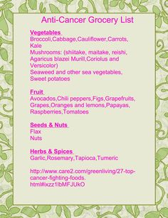 27 cancer-fighting foods