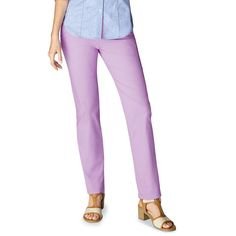 A polished, laid-back style you're sure to love. Slim-fit, pull-on pants with gingham trim on binding. These super-slimming pastel pants are a bright alternative to blue jeans. Introducing Signature Collection: Effortless style that's totally wearable. Regularly $29.99, shop Avon Fashion online at http://eseagren.avonrepresentative.com