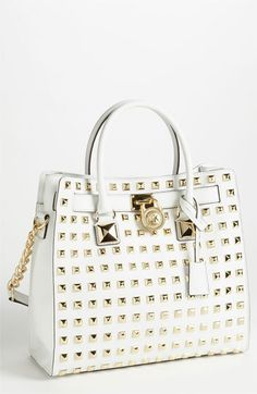 MICHAEL Michael Kors 'Hamilton - Large' Studded Leather Tote available at Nordstrom Michael Kors Outlet, Michael Kors Tote, Michael Kors Hamilton, Cheap Michael Kors, Handbags Michael Kors, Outlet Store, Online Outlet, Mk Handbags, Handbags On Sale