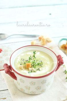 Baby Food Recipes, Dessert Recipes, Cooking Recipes, Vegetarian Recipes, Healthy Recipes, Romanian Food, Yummy Food, Tasty, Healthy Soup