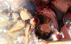 art, rella, anime, Magi the Labyrinth of Magic judal, aladdin, rukh, boys, flowers, roses