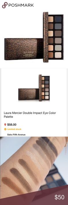 Laura Mercier- Double Impact Eye Collection! ❤ Brand New- Limited Edition Laura Mercier Double Impact Eye Colour Collection!! ❤ Authentic 💯💯 This palette is full of buttery soft - crazy pigmented packed colors!! Sold out almost everywhere! Get I while you can!! A total must have for every makeup collection!! 🙌🙌 Gifts with Purchase!! 🎉🎉🎉 please note the swatches pictured are not from this palette. This palette is brand new and never touched! Trade value is $65. Listed under Mac for…