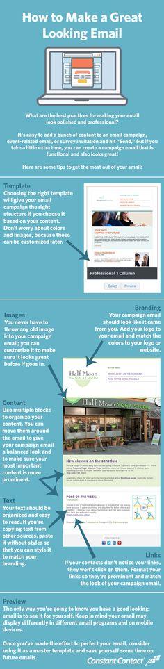 How to make a great looking #Email #Infographic / Como crear una buena apariencia para un #eMail, algunos consejos para mejorar las campañas de #MailMarketing #SocialMedia #Infografía