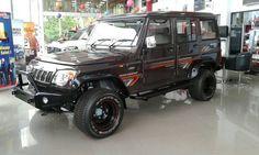 Modified Mahindra Bolero Spied At A Dealership Bolero Modified