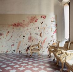 smallspacesblog:Cy Twombly home, Rome 1966, by Horst P. Horst for Vogue