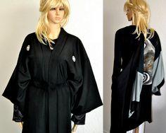 Otani Silk Japanese Kimono Haori Oversized Silk by EventOutlet