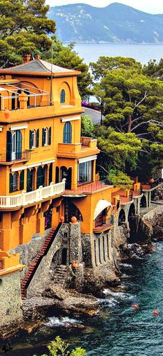 Portofino, Italy I have actually been to this tiny town in Italy on a mediterranean cruise. So peaceful.