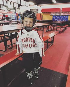 99db62fa Boston College hockey fan George, son of Shannon (Langan) Tomaszewski and  Dr. Paul Tomaszewski already knows he wants to be a BC Eagle!