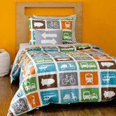 For both twin beds? Found it at Wayfair - Transportation Duvet Set