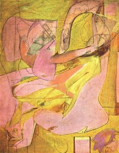 Willem De Kooning | Willem de Kooning-Pink Angels c. 1945