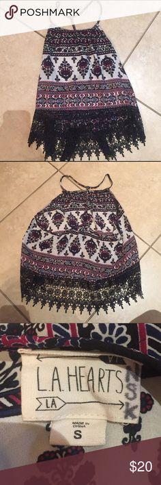 LA Hearts printed cami Printed cami with lace bottom.  Spaghetti straps. LA hearts  Tops Camisoles