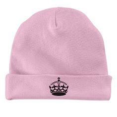 little queen | cute pink hat for baby girl, crown design