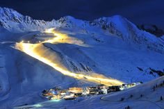 Night skiing is one of the most popular things to do in Kuhtai