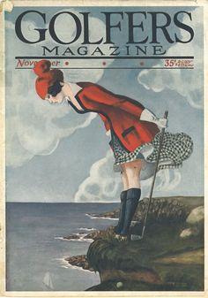 Vintage Frauen Golf Drucke