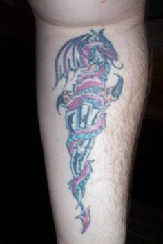 Dragon Dagger Tattoo | tattoos | Pinterest
