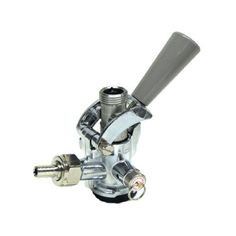 TapRite D System Keg Coupler Grey Handle with Stainless Steel Probe