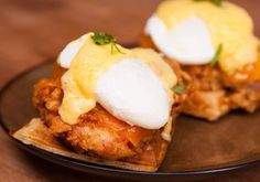 Brunch is Better with Cheddar Fried Chicken and Waffle Eggs Benedict