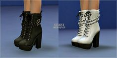 Chunky Stud Leather Boots at Marigold via Sims 4 Updates