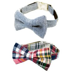With the Ivy League Bow Tie Dog Collar Set your dog will be the most dapper pup this holiday season!