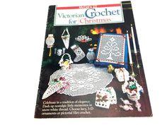 Christmas Crochet Victorian Crochet Holiday Crochet | Etsy Crochet Tree, Filet Crochet, Christmas Gift List, Pineapple Crochet, Holiday Crochet, Handmade Crafts, Etsy Handmade, Chinese Lanterns, Crochet Baby Booties