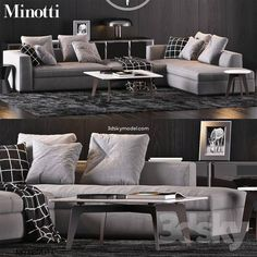 Minotti furniture set with sofa POWELL