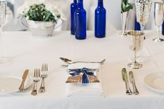Beautiful table settings and wedding favours on show at Peak Functions.