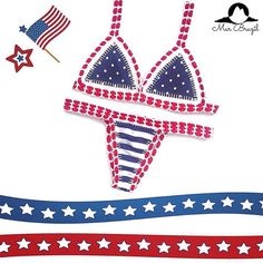Don't wait till last minute to get the perfect bikini for your of July celebration! Brazilian Swimwear, 4th Of July Celebration, Bikini Swimsuit, Bathing Suits, America, Usa, Celebrities, Bikinis, Instagram Posts