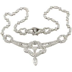 Shop diamond and pearl choker necklaces and other antique and vintage necklaces from the world's best jewelry dealers. Initial Pendant Necklace, Diamond Pendant Necklace, Choker Necklaces, Choker Jewelry, Jewellery, Art Deco Jewelry, Modern Jewelry, Fine Jewelry, Platinum Jewelry