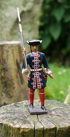 soldats de plomb et figurines de collection - au plat d'étain à Paris - garde francaise lois xiv