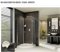 Best price to buy Fleurco Platinum Neo x Neo-Angle Shower Door- Glass to Glass Hinges online from our Exotic Home Expo website. See our other Fleurco products. Neo Angle Shower Doors, Corner Shower Doors, Glass Shower Doors, Glass Showers, Shower Enclosure, Shower Tub, Glass Hinges, Shops, Steam Showers Bathroom
