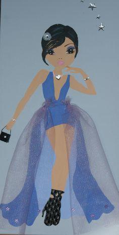 Schilder je eigen topmodel en maakt het af met echte stofjes, glitters en steentjes. Cinderella, Disney Characters, Fictional Characters, Disney Princess, Disney Princesses, Disney Princes