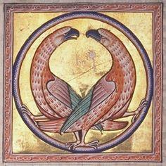 "Buitre del ""Aberdeen bestiary""  Inglaterra siglo XII  http://www.lavondyss.net/biblioteca/bestiario-medieval-siruela/00.-BESTIARIO%20MEDIEVAL.htm#ÍR_AL_ÍNDICE"