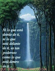 Image may contain: outdoor and nature Spanish Inspirational Quotes, Good Morning Inspirational Quotes, Spanish Quotes, Good Morning Quotes, Wonderful Day Quotes, Quote Of The Day, Good Night Messages, Love Messages, Spanish Greetings