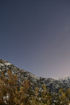 Noche de estrellas, camino a Farellones