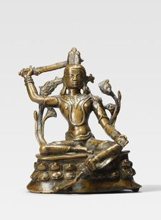 Bonhams Fine Art Auctioneers & Valuers: auctioneers of art, pictures, collectables and motor cars Tibet Art, Southeast Asian Arts, Tibetan Buddhism, Himalayan, Lion Sculpture, Auction, Copper, Buddhists, Bronze