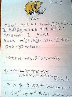 A note that Louis wrote his grandparents when he was younger. i think i died. what is air? the Louis feels! Fetus One Direction, One Direction Imagines, I Love One Direction, I Love You All, Are You Happy, Louis Tomlinson, Cher Lloyd, Louis Williams, Perfect Boy