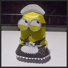 Despicable Me 2 - Phil Minion Maid Free Papercraft Download | PaperCraftSquare.com