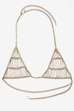 Vanessa Mooney The Bardot Chain Bra - Accessories | Lingerie Accessories | Body Chains