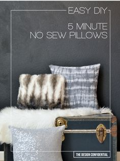 Easy No Sew 5 Minute DIY Pillows | The Design Confidential