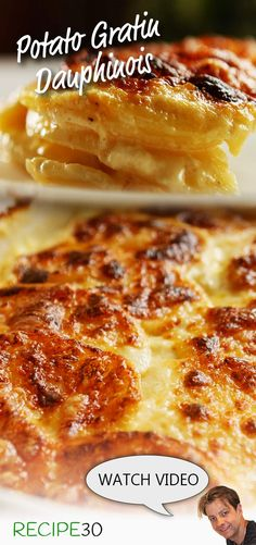 Amazing Gratin Dauphinois Potatoes in cream with cheese Side Recipes, Holiday Recipes, Whole Food Recipes, Great Recipes, Cooking Recipes, Favorite Recipes, Holiday Foods, Potato Vegetable, Vegetable Dishes