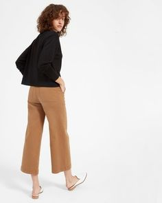 The Luxe Wool Crop Mockneck - Everlane