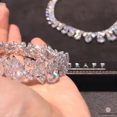 with this exquisite fancy shaped diamond bracelet set filled with lustre and fire for… Graff Jewelry, Luxury Jewelry, Diamond Jewelry, Beaded Jewelry, Diamond Bracelets, Modern Jewelry, Gold Jewelry, Jewellery, Jewelry Tags